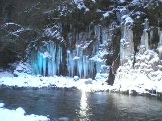 大滝の氷柱